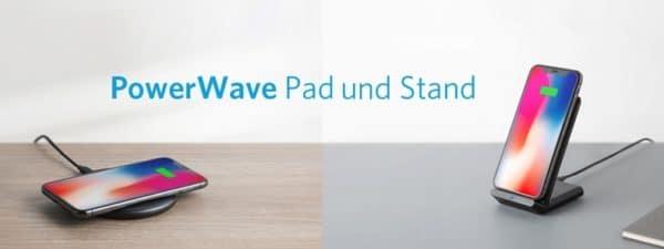 Anker Wireless PowerWave Ladepad und Ladeständer