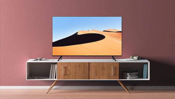 SAMSUNG GU65TU7079UXZG 163 cm (65 Zoll), UHD 4K, SMART TV, LED TV, 2.000, DVB-T
