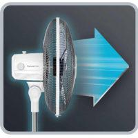 Seitlich Rowenta VU4410 Essential+ Standventilator weiß