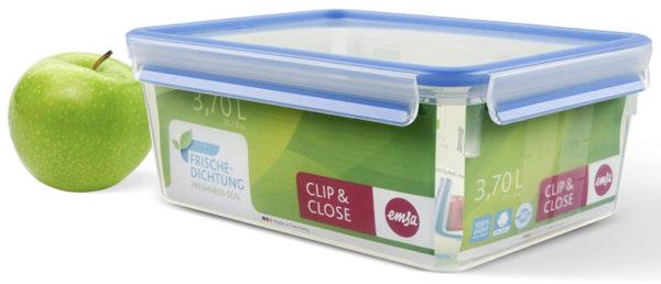 Emsa 508546 Rechteckige Frischhaltedose mit Decke
