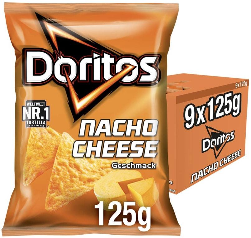 Doritos Nacho Cheese   Kaese Tortilla Nachos   Herzhafter Snack zum Knabbern aus Mais   9 x 125g  Amazon.de Lebensmittel  Get 2021 08 23