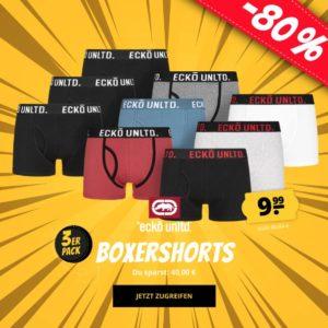 Ecko Unltd. 3er Pack Herren Boxershorts in verschiedenen Varianten