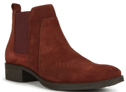 Geox Leder-Chelsea-Boots Laceyin in Rot
