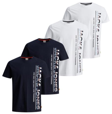 Jack  Jones Herren Kurzarm Rundhals T Shirt JCOSTRUCTURE TEE Slim Fit   4er Pack kaufen   JEANS DIRECT.DE 2020 08 17 14 23
