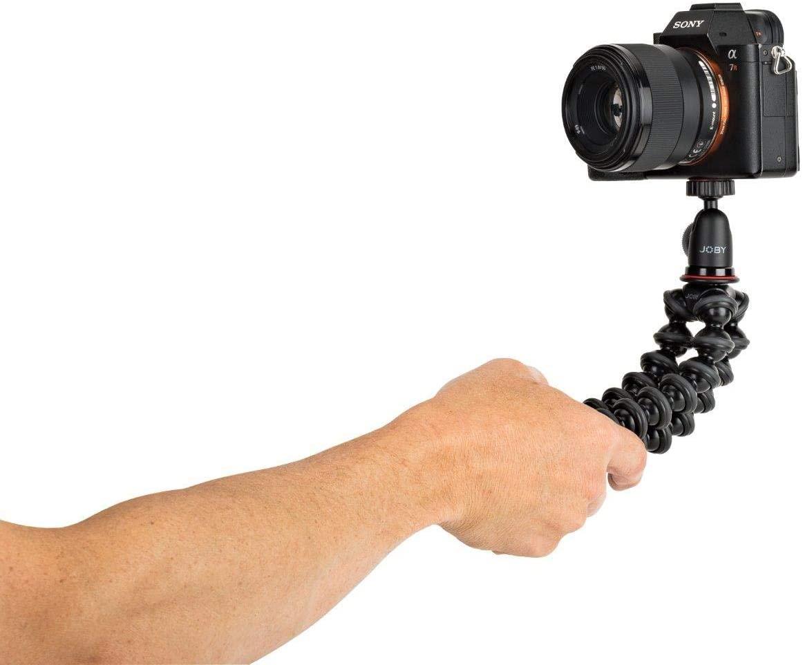 Den Einstieg bei unseren größeren Stativen macht das GorillaPod 1K Kit, das spiegellose Systemkameras, Blitzgeräte, Lautsprecher, Videoleuchten