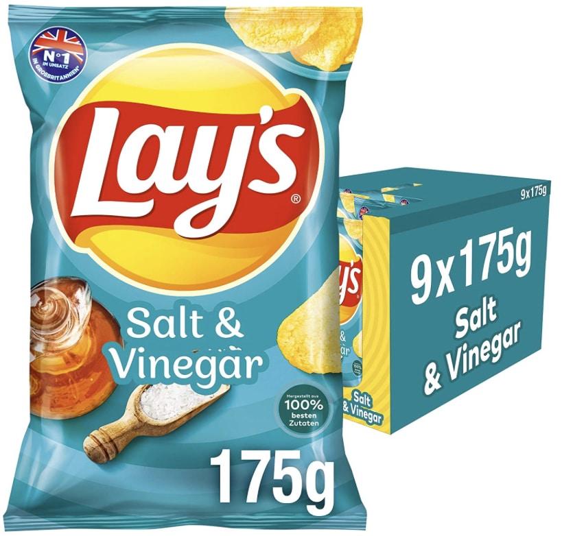 Lays Salt  Vinegar NEU  Knusprig gewuerzte Kartoffelchips fuer eine gelungene Party  9 x 175g  Amazon.de Lebensmittel  Get 2021 08 23