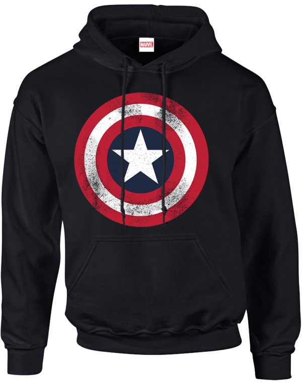 Marvel Avengers Assemble Captain America Distressed Shield Pullover