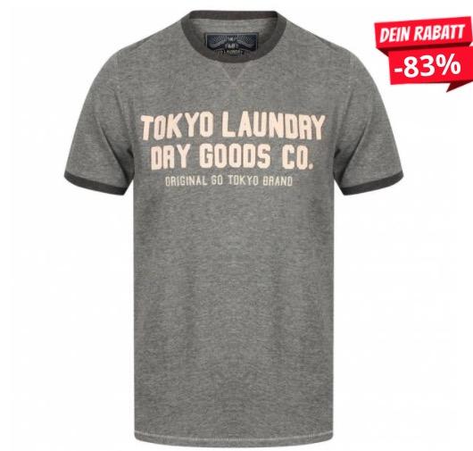 Tokyo Laundry Williamburg Herren Logo T Shirt 1C11474 Grey Marl