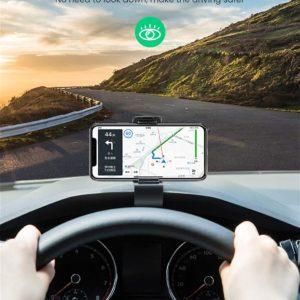 HUD-Design: UGREEN Autohalterung mit HUD-Design hält bombenfest mittig über dem Tachometer. Dadurch können Sie alle Informationen problemlos ablesen, ohne den Kopf ständig drehen und die Aufmerksamkeit vom Weg abwenden zu müssen. Wegen des kompakten Clip-Designs wird Ihr Sichtfeld auch nicht eingeschränkt.