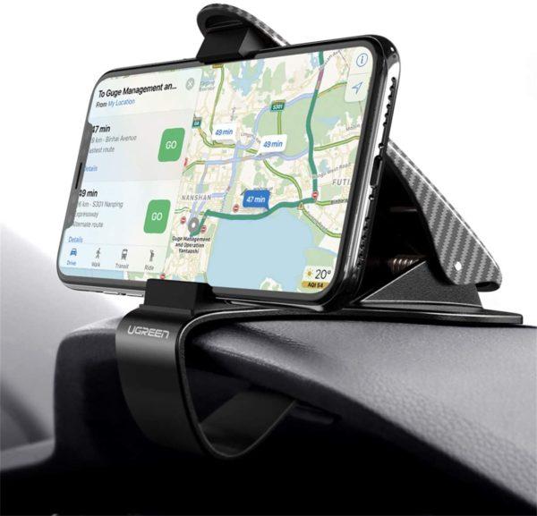 Einfache Montage: UGREEN Auto Handyhalterung mit doppelten Befestigungssystemen lässt sich einhändig und einfach an Ihre Armatur festklemmen. Auch während der Fahrt können Sie das Handy mit nur einer Hand leicht verstellen.