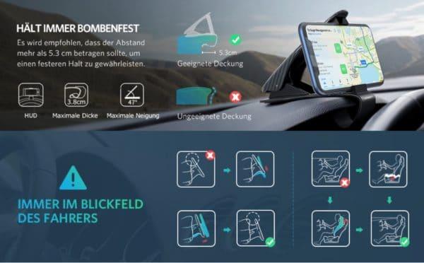 UGREEN Auto Handyhalterung Armaturenbrett features 1
