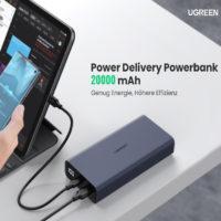 Ugreen Powerbank  mit 20.000mAh USB C USB A QC 3.0  PD