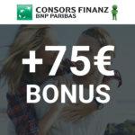 🔥 Endspurt! 💳 75€ Bonus für die kostenfreie Consors Finanz Mastercard