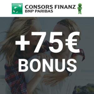 🔥 Wieder da 💳 75€ Bonus für die kostenfreie Consors Finanz Mastercard