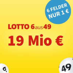 Lotto 6aus49 💵🍀 19 Mio. € Jackpot: 20 Felder für 16€ für BK // Gratis-Tipp für NK