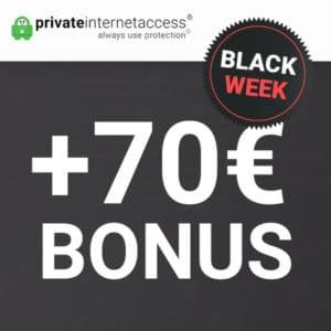 Effektiv GRATIS: 🔐 VPN ohne Logs mit 70€ Bonus (PrivateInternetAccess)