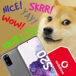 Samsung Galaxy S20 + 10GB LTE Vodafone für 24,99€ mtl.