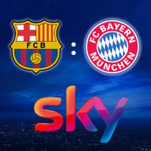 [Letzte Chance] Sky Q + 100€ Bonus + Ohne AG 🏆 z.B. Bayern vs. Barcelona