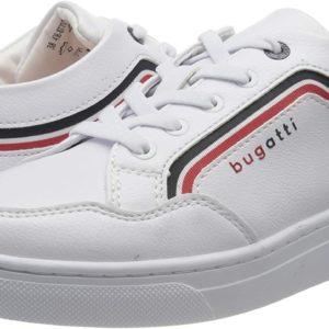 Farbe: Weiß White Red 2030 Obermaterial: Synthetik Innenmaterial: Textil Sohle: Gummi Verschluss: Schnürsenkel Absatzform: Flach Schuhweite: Schmal