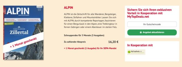 Alpin Magazin 4 Monate gratis