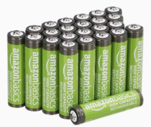 AmazonBasics AAA Batterien mit hoher Kapazitaet wiederaufladbar 850 mAh 24 Stueck vorgeladen
