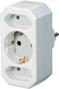 Der Adapterstecker von Brennenstuhl mit zwei Euro-Steckdosen und einer Schutzkontakt-Steckdose in der Farbe weiß für die Steckdose besticht durch seine Qualität und Sicherheit in allen Bereichen. Er verfügt nicht nur über einen erhöhten Berührungsschutz sondern besticht außerdem durch folgende Eigenschaften: Auf 1 Schutzkontakt-Steckdose + 2 Euro-Steckdosen Steckdosen mit erhöhtem Berührungsschutz Farbe Weiß Stecksystem DE
