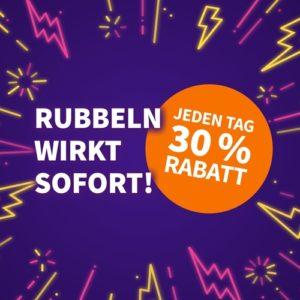 Rubbellos-Woche 🍀😊 mit 30% Rabatt auf versch. Rubbellose (auch für Bestandskunden!)