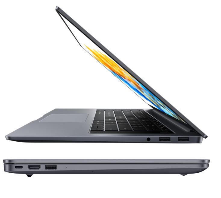 HONOR MagicBook Pro Laptop, 40,9 cm (16,1 Zoll), Full HD IPS, 512 GB PCIe SSD, 16 GB RAM, AMD Ryzen 5 4600H, Fingerabdrucksensor, Windows 10 Home - Space Grey