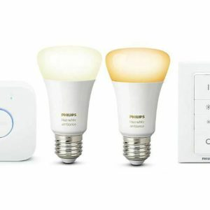 PHILIPS Hue White Ambiance Starter-Kit 2x E27-Lampen Hue + Bridge + Dimmschalter