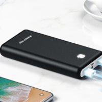 POWERADD Powerbank mit 20.000mAh 2x USB A  Taschenlampe