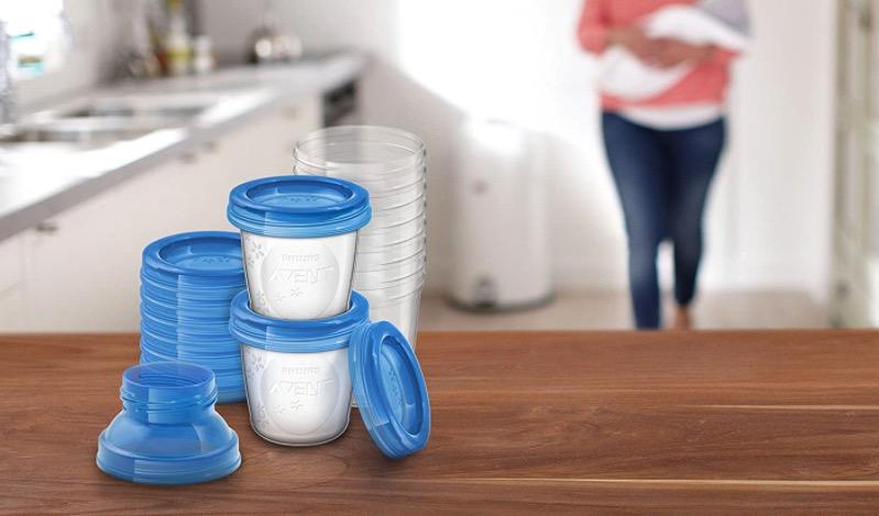 Philips Avent Aufbewahrungsbecher fuer Muttermilch 10er Pack