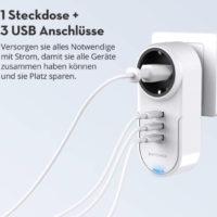 RAVPower USB Steckdose Adapter
