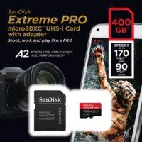 SanDisk Extreme Pro MicroSD mit 400GB Speicher bis zu 170 MBs