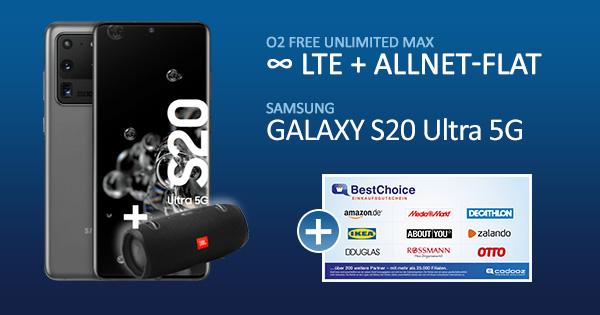Galaxy S20 Ultra 5G o2 Unlimited Max Bonusdeal