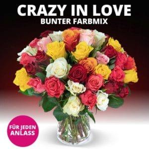 💐 Blumenstrauß Crazy in Love mit 40 Rosen