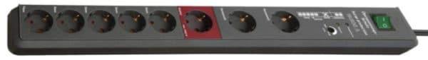Brennenstuhl Secure-Tec, Steckdosenleiste 8-fach mit Überspannungsschutz
