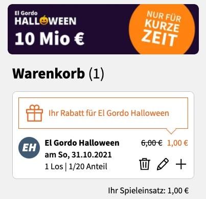 El Gordo 1 Euro Neukunden Los