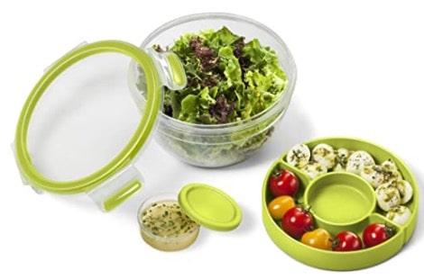 Emsa Salatbox mit 2 praktischen Einsätzen