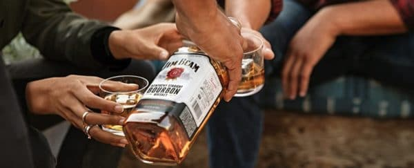 Jim Beam Whiskey White Kentucky Straight Bourbon Whiskey
