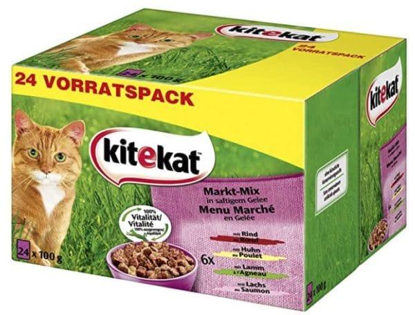 Kitekat Katzenfutter Nassfutter im praktischen 100g Portionsbeutel
