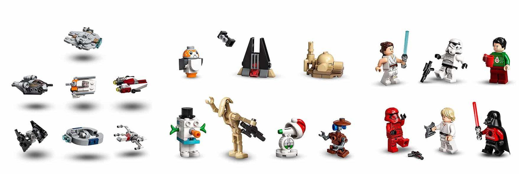 Dieses 311-teilige Adventskalender-Bauset ist ein tolles Geschenk in der Vorweihnachtszeit für Kinder ab 7 Jahren. Die Figuren und Baumodelle können auch mit anderen LEGO Star Wars Sets kombiniert werden, um noch mehr kreativen Spielspaß zu bieten Wenn nicht gerade feierlich ein Türchen geöffnet wird oder spannende Spielabenteuer stattfinden, bereichert der LEGO Star Wars Adventskalender 2020 als spektakuläres Schaustück und attraktive Weihnachtsdeko jedes Zimmer