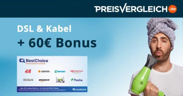 PreisvergleichDSL bonus deal uebersicht