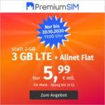 🤩 o2 LTE Allnet-Flat, z.B. mit 3GB für 5,99€ mtl. & mehr (Drillisch)