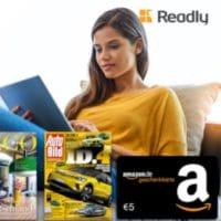 Readly mit 5€ Amazon Gutschein
