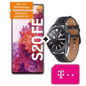 Eff. GRATIS 🔥 Telekom-Netz 📲 Galaxy S20 FE + Galaxy Watch 3 mit 18GB LTE + 100€ Cashback