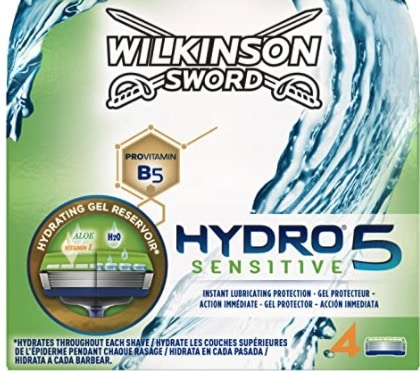 Wilkinson Sword Hydro 5 Sensitive Rasierklingen für Herren Rasierer 4 Stück