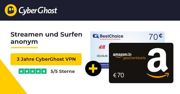 CyberGhost VPN mit Gutschein