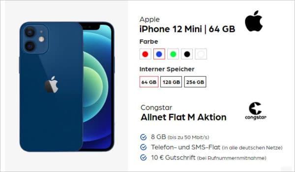 iphone 12 mini congstar allnet flat 8gb