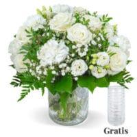 white lady blumenstrauss mit vase