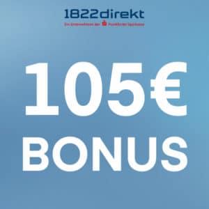 105€ Bonus für 1822direkt-Depot (keine Schufa)
